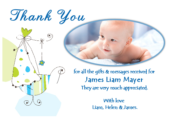 10 Personalised Baby Birth Thankyou PHOTO Cards N163 - The ...