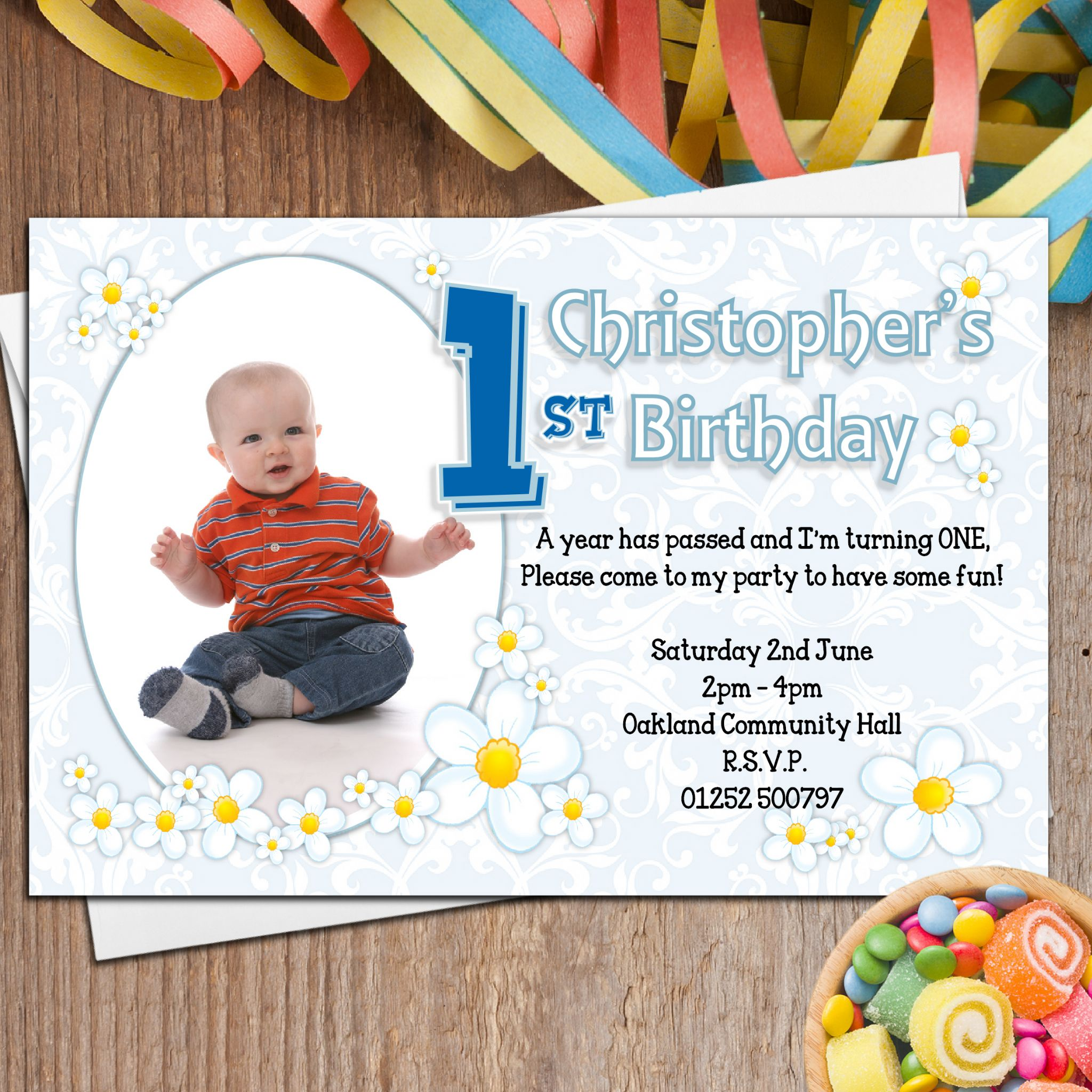 Dress womens clothing: Personalised 1st birthday invitations