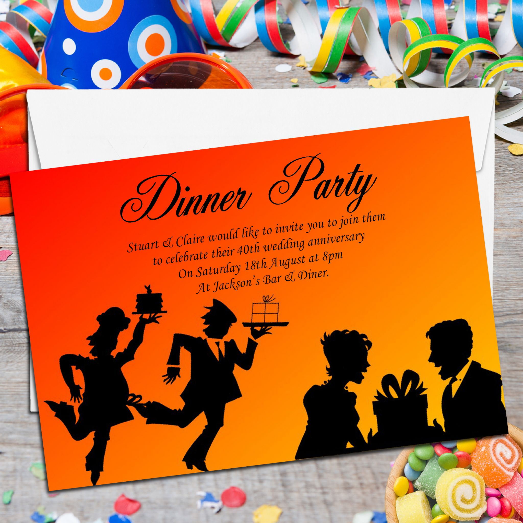 10 Personalised Come Dine With Me Dinner Party Invitations No1