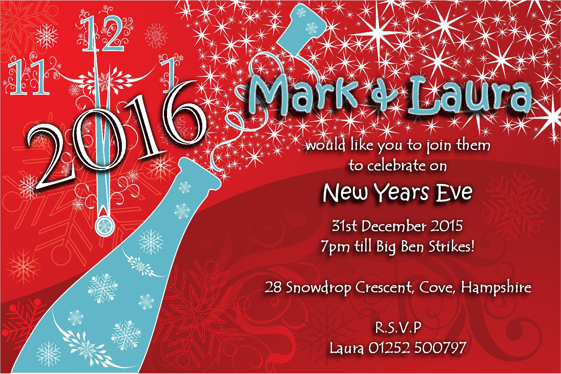 New Years Party Invitations could be nice ideas for your invitation template
