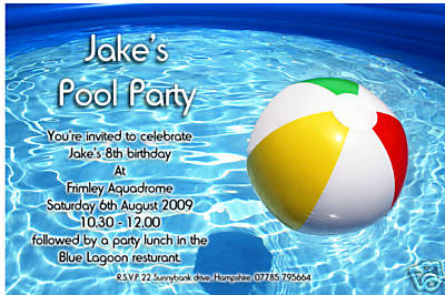 Swimming Party Invitations gangcraftnet – Pool Party Invite Template