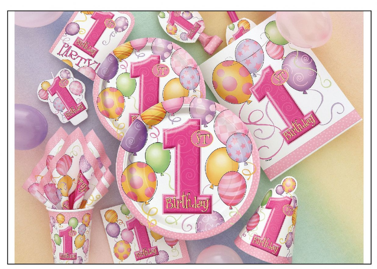Girl party supplies image inspiration of cake and for 1st birthday decoration ideas
