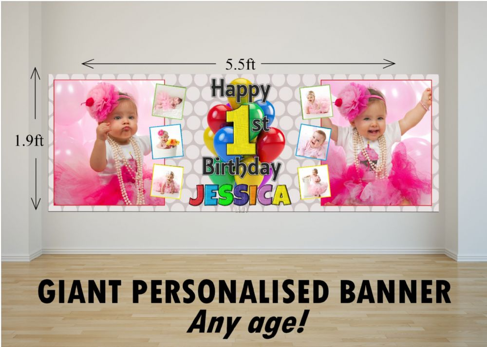 Personalised GIANT Large Girls Boys 1st First 2nd 3rd 4th ...