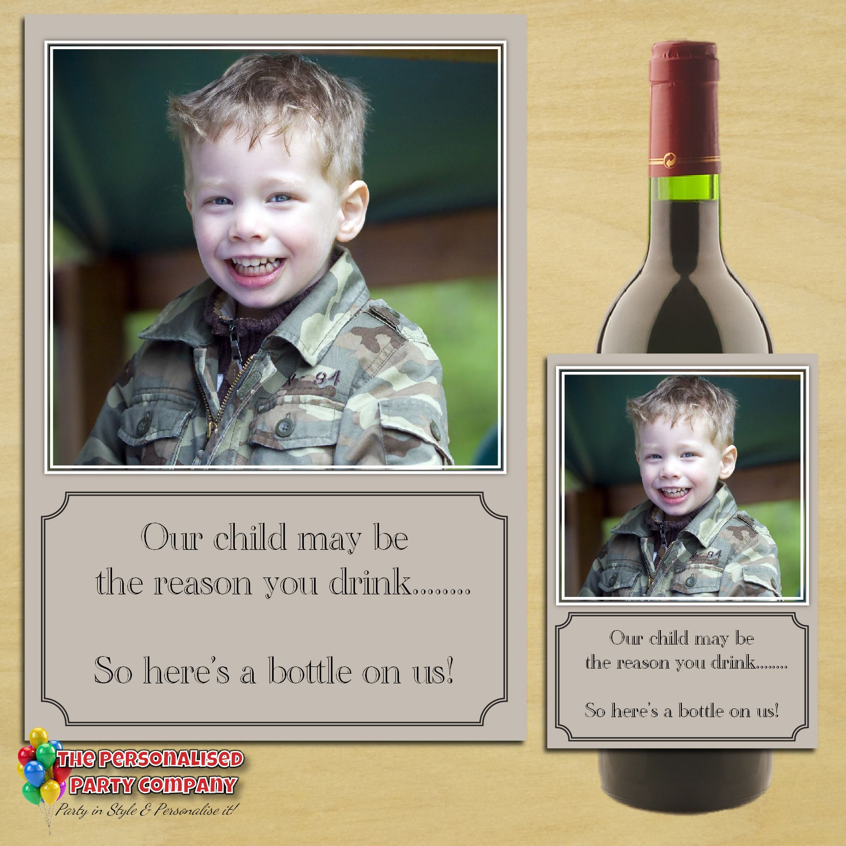 Personalised Keep Calm And Drink Wine Bottle Label Labels: Personalised School Teacher Gift Idea Our Child Wine