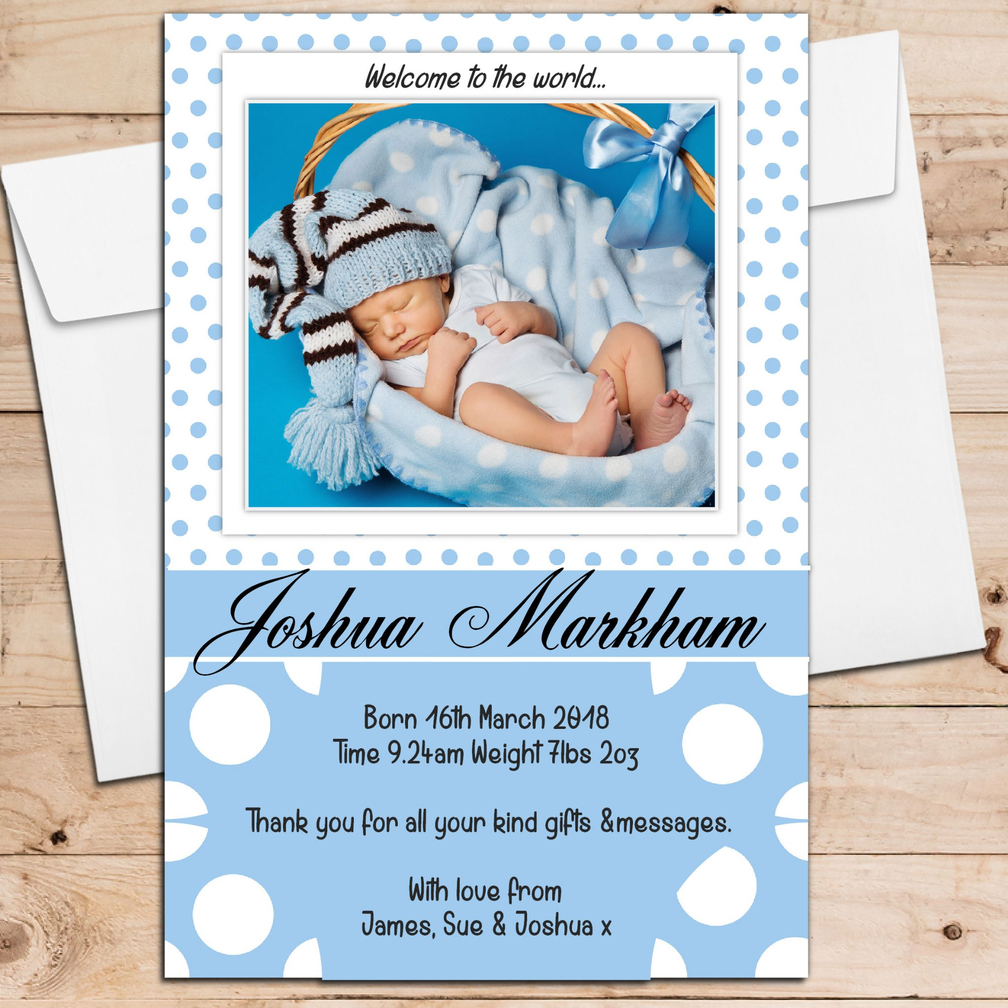 Birth Announcement Cards – Baby Birth Invitation Card