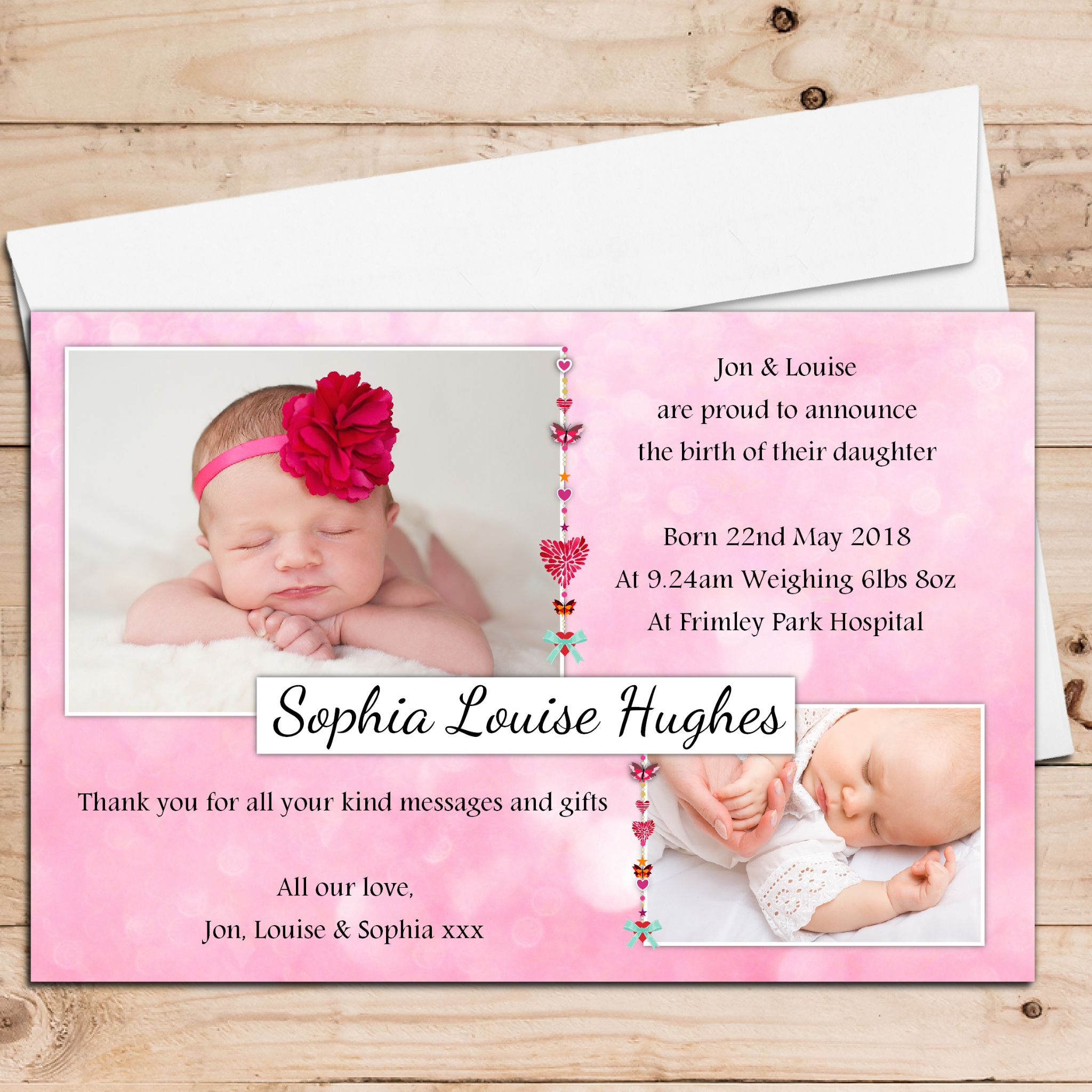 announcement photo cards pacqco – Baby Birth Invitation Card
