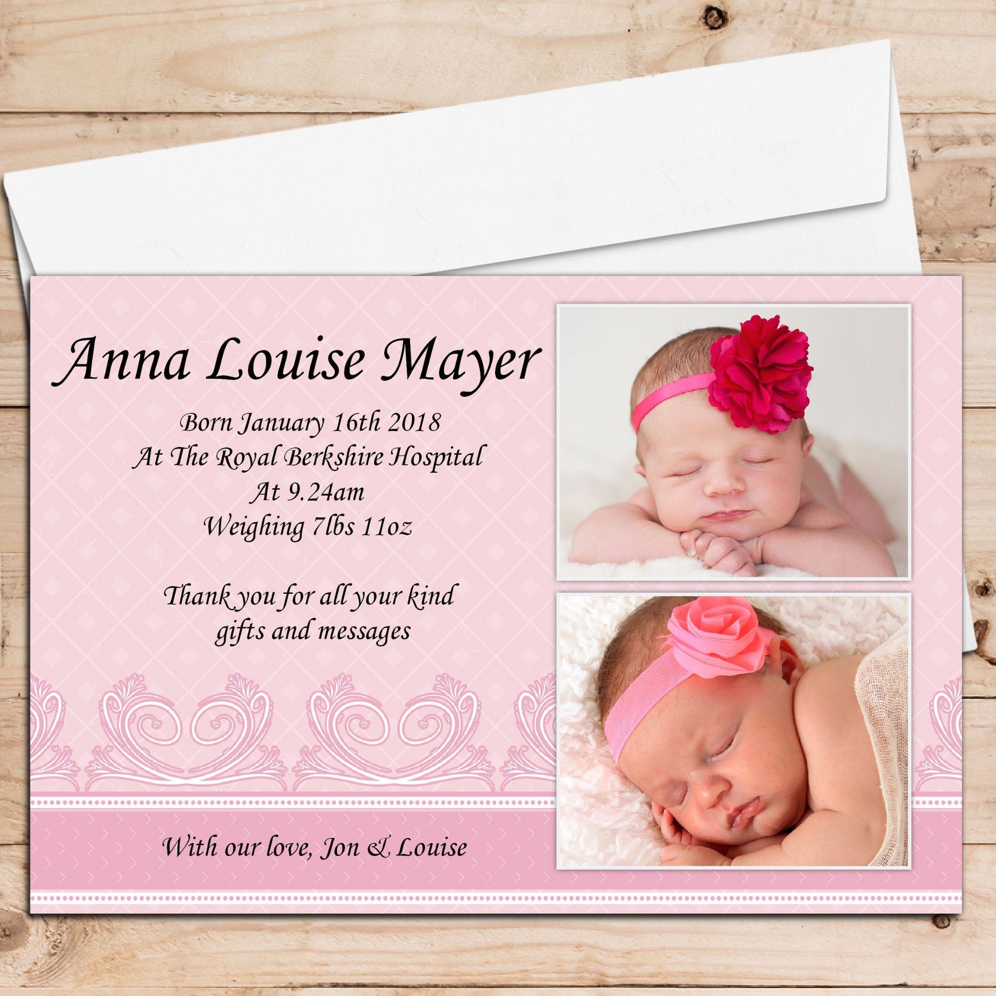 baby birth announcement cards