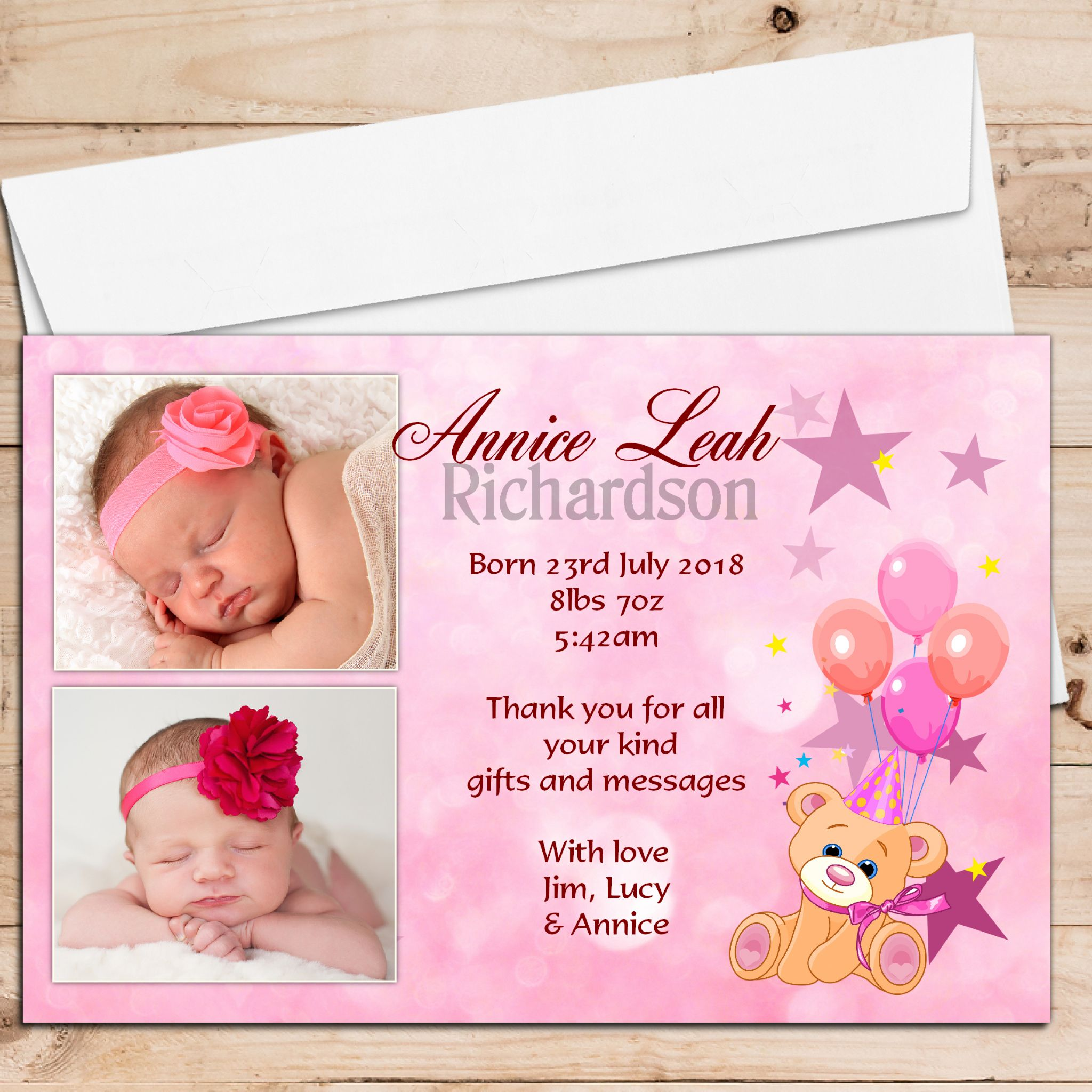 Birth Announcement Cards – Birth Announcement Card