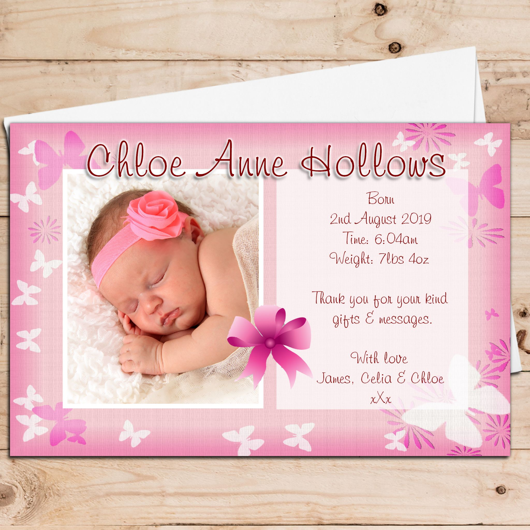 photo birth announcement cards pacqco – Baby Birth Invitation Card