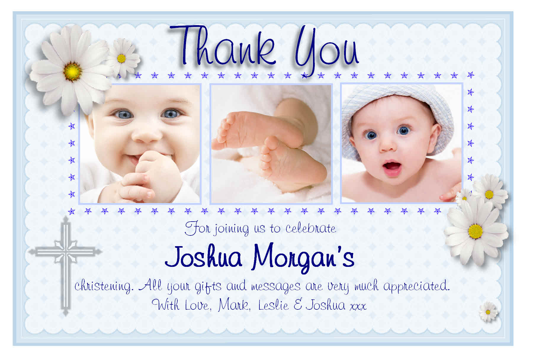 Personalised christening thank you cards personalised baptism 10 personalised christening baptism thank you photo cards n130 stopboris Choice Image