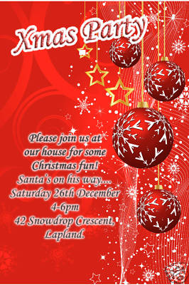 10 Personalised Christmas Xmas Party Invitations No7