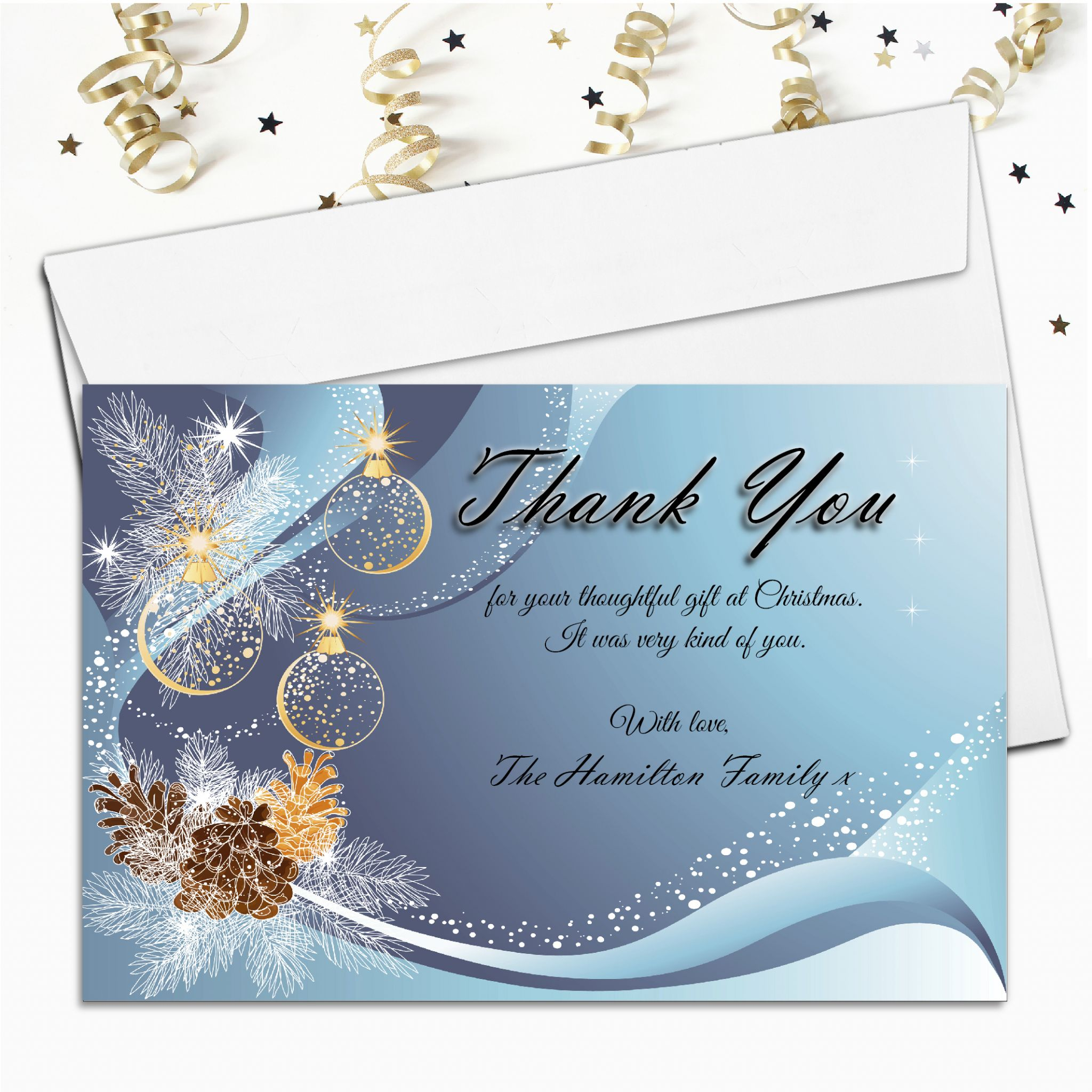Christmas Thank You Cards.10 Personalised Christmas Xmas Thank You Cards N22