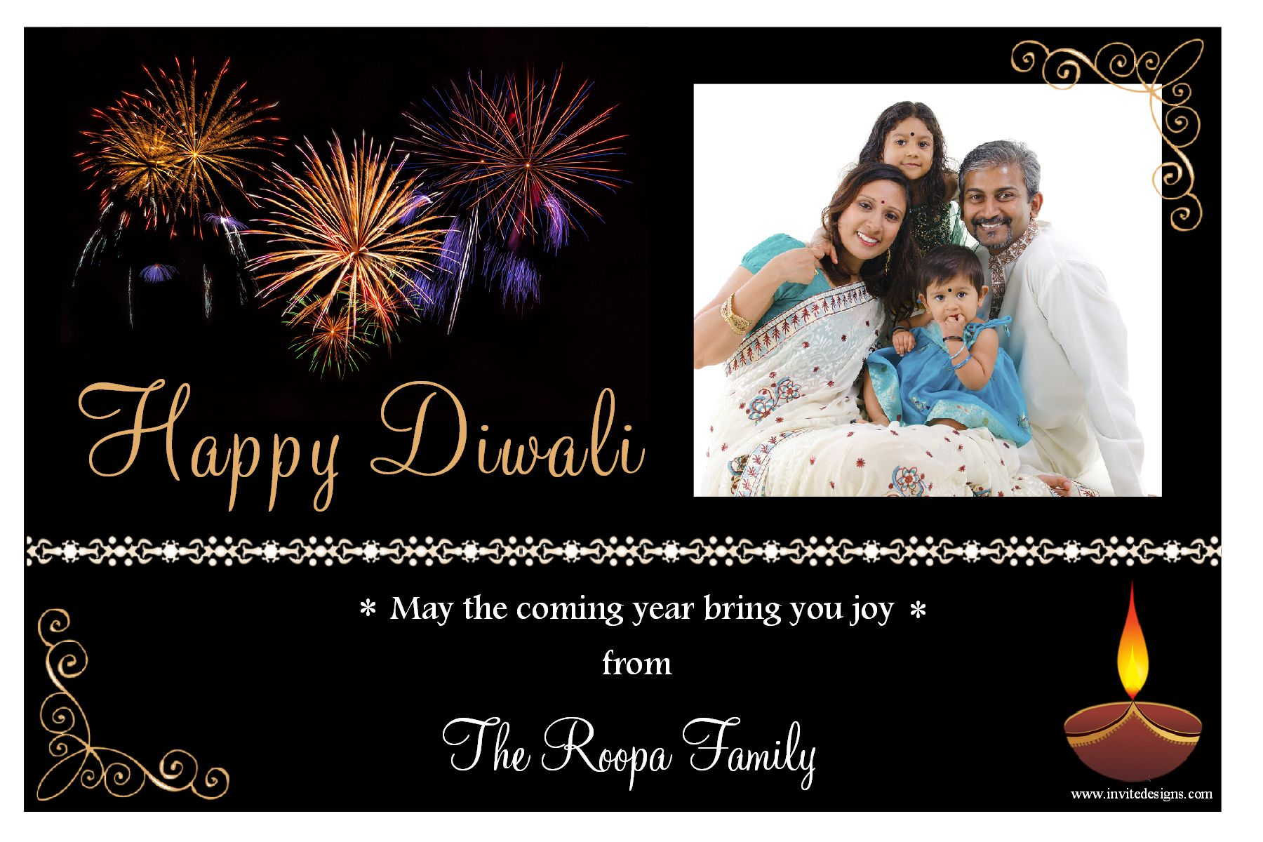 10 personalised diwali devali celebration new year photo cards n2 kristyandbryce Image collections
