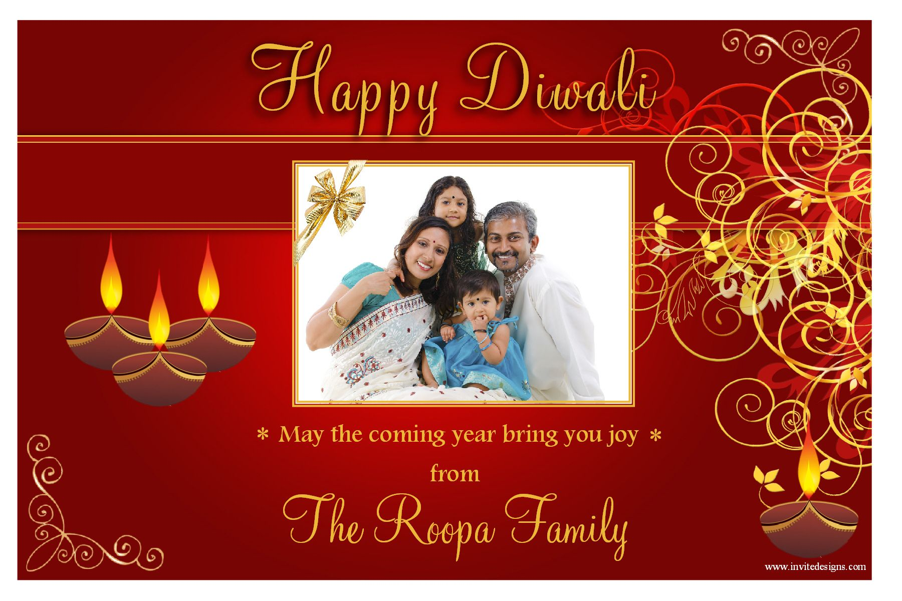 10 Personalised Diwali Devali Celebration New Year PHOTO ...
