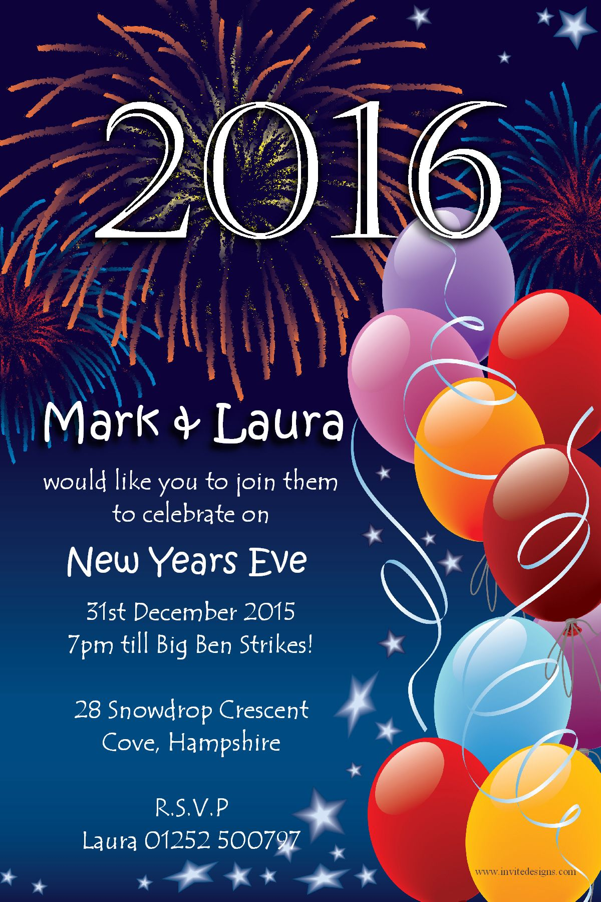 10 personalised new years eve party invitations no1 stopboris Image collections