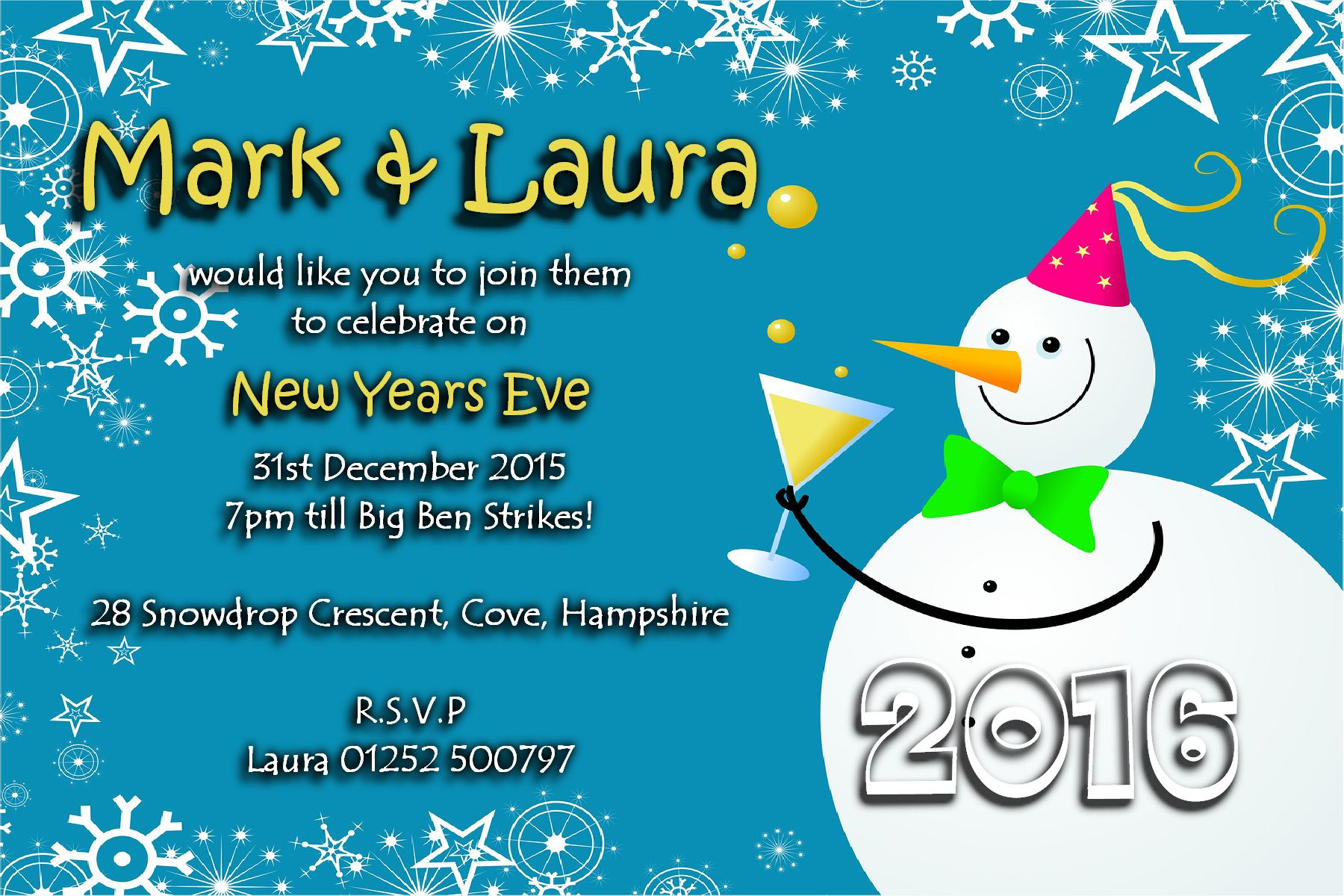 10 Personalised New Years Eve Party Invitations No4 The – New Years Eve Party Invite