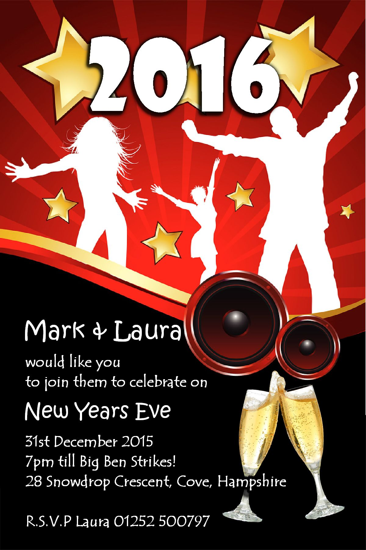 10 personalised new years eve party invitations no5