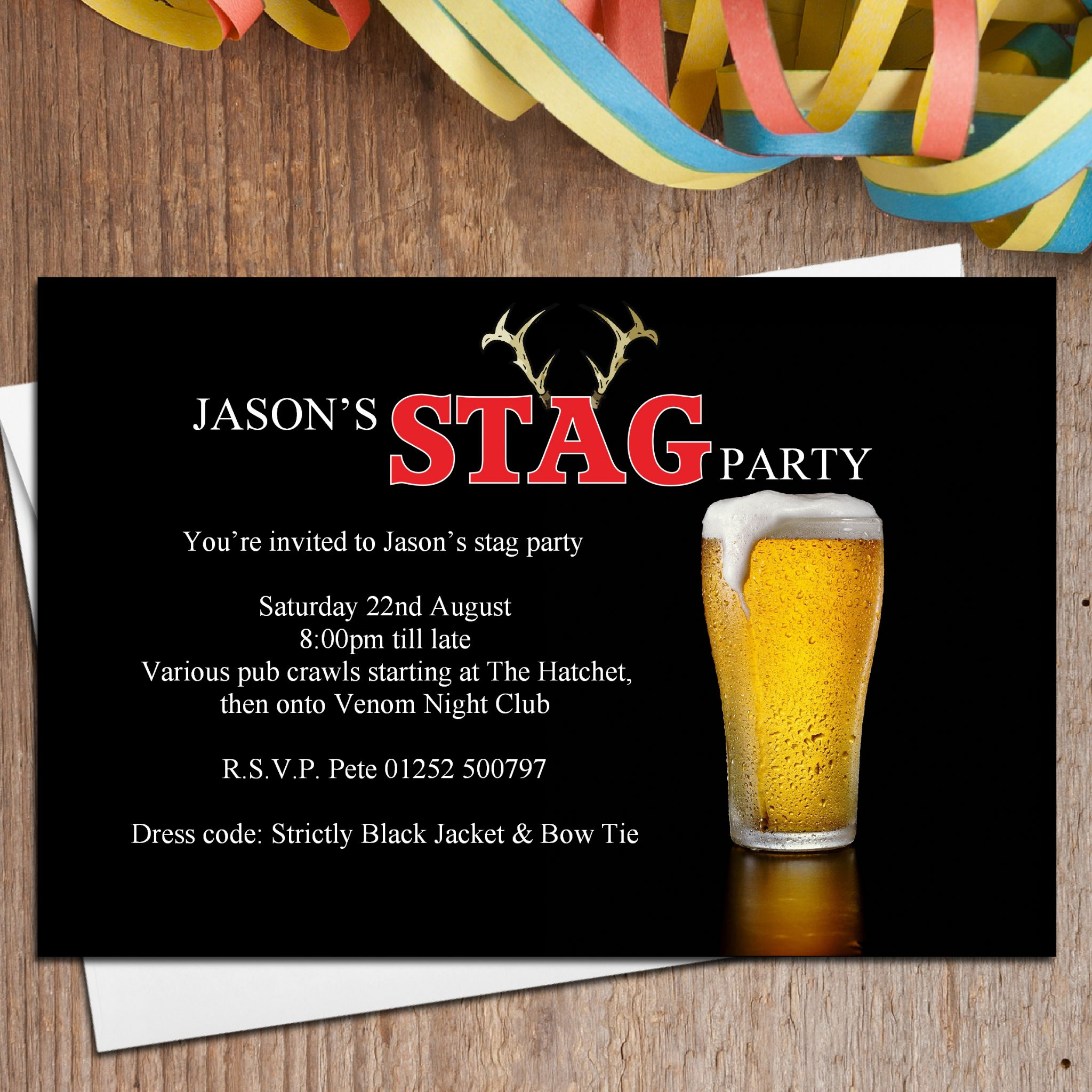 Stag Do Invite – Stag Party Invitation