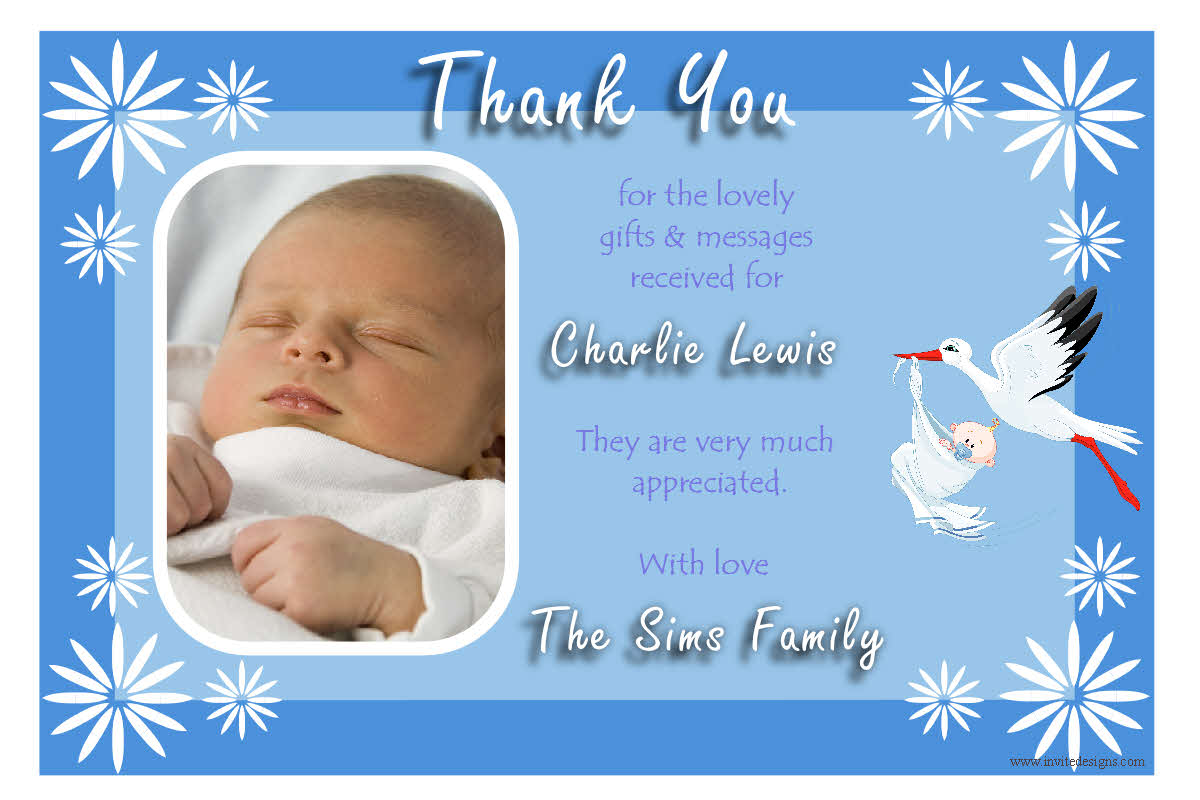 Personalised Thank you cards | Birthday Thank you Photo cards