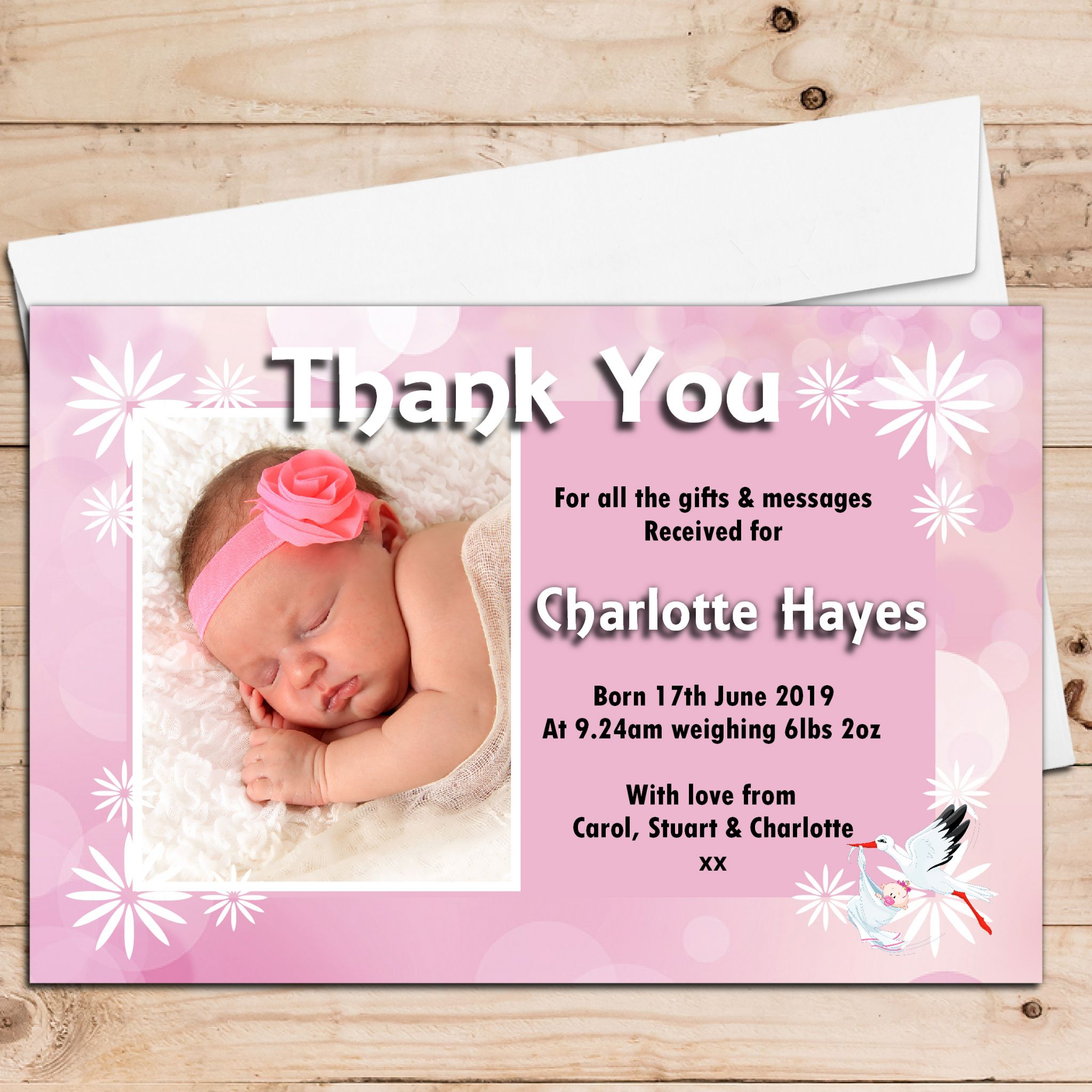 baby girl announcement cards pacqco – Baby Birth Invitation Card
