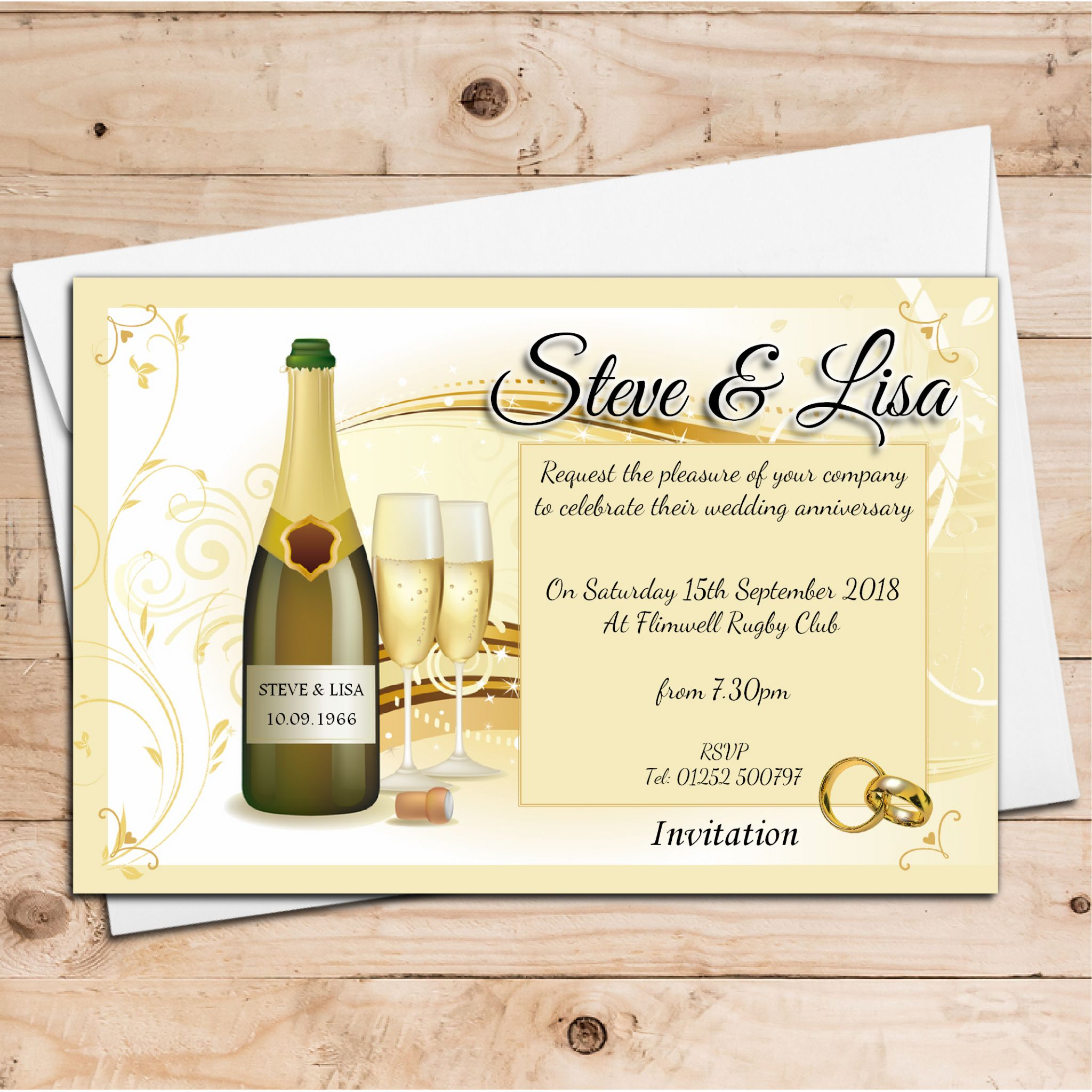 10 Year Wedding Anniversary Invitations: 10 Personalised Wedding Anniversary Invitations N7