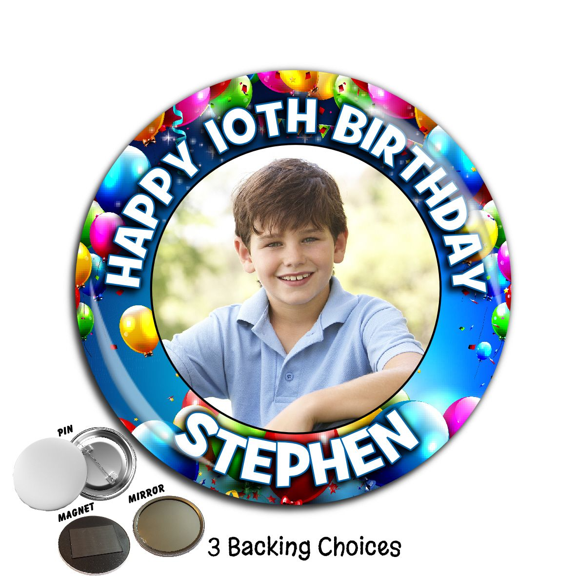 Girl Happy 7th Birthday Age Party Balloons Banners Big Badges 7 Today