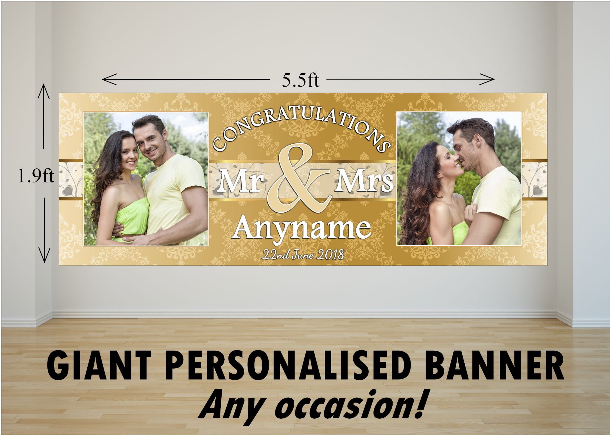 personalised giant large congratulations wedding engagement