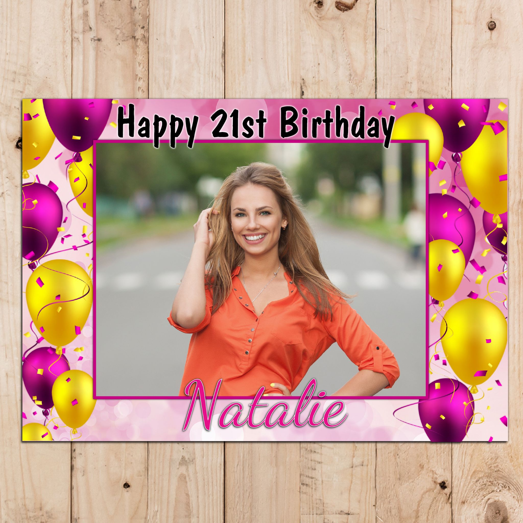 Personalised Happy Birthday Party PHOTO Poster Banner N89