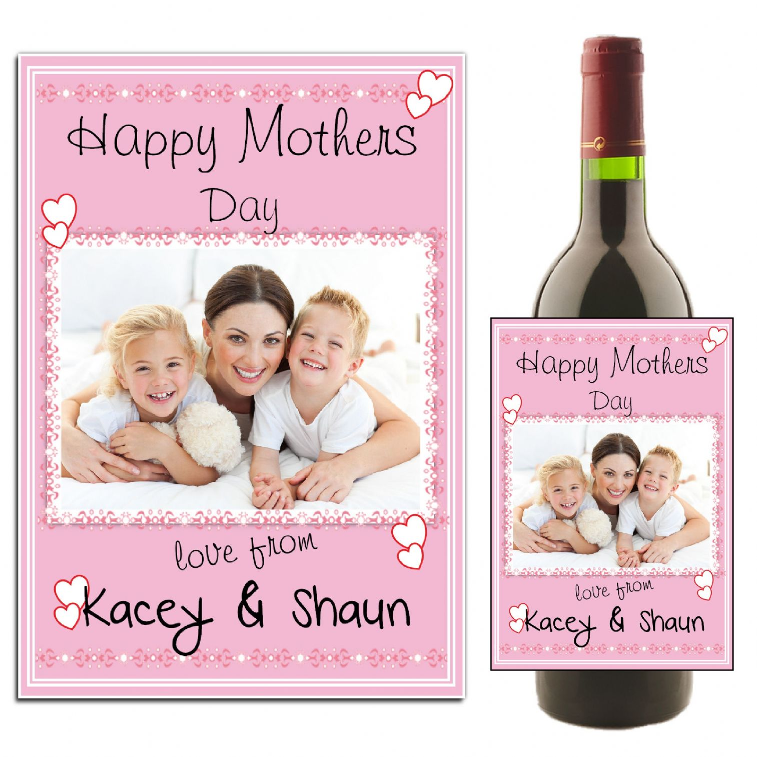 This is a photo of Modest Mother's Day Wine Labels