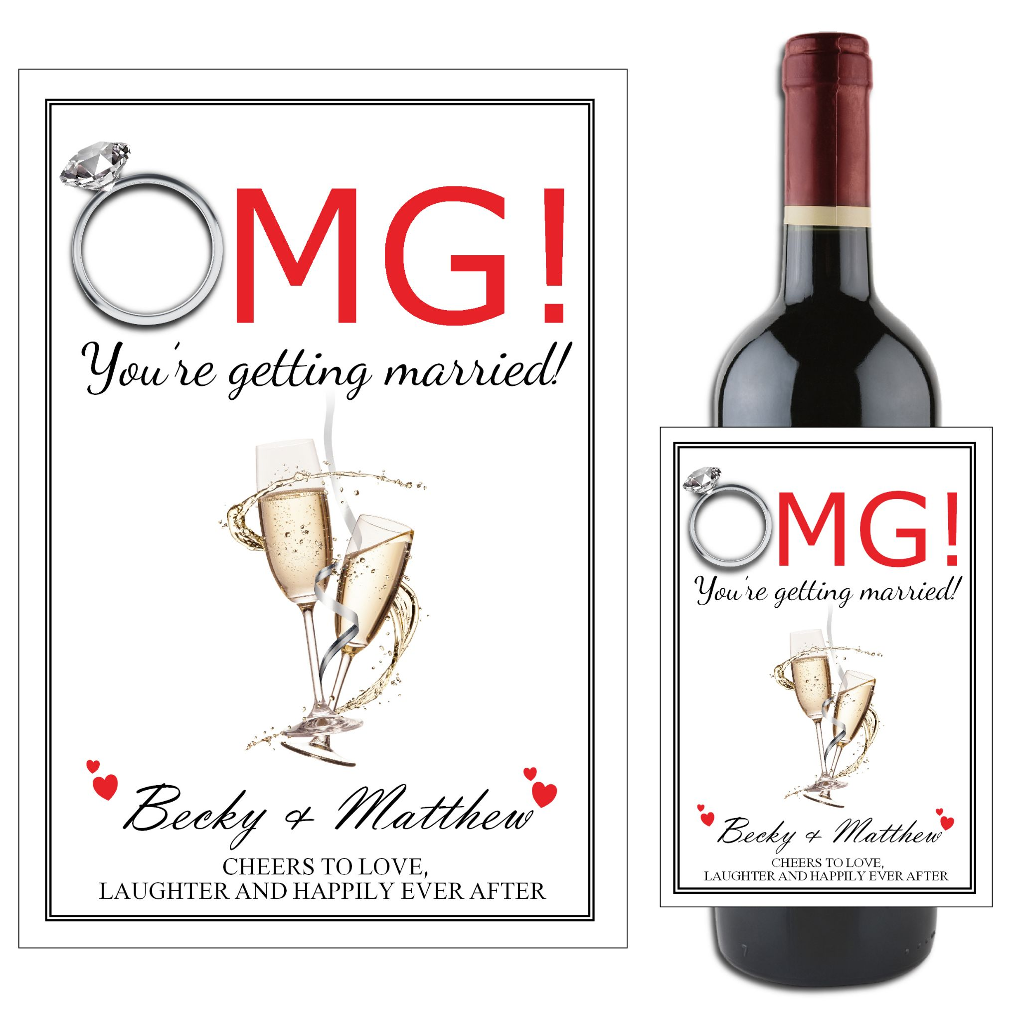 Wine Bottle Sticker STICKER ONLY FOR BOTTLE Out of all the Mums in the world