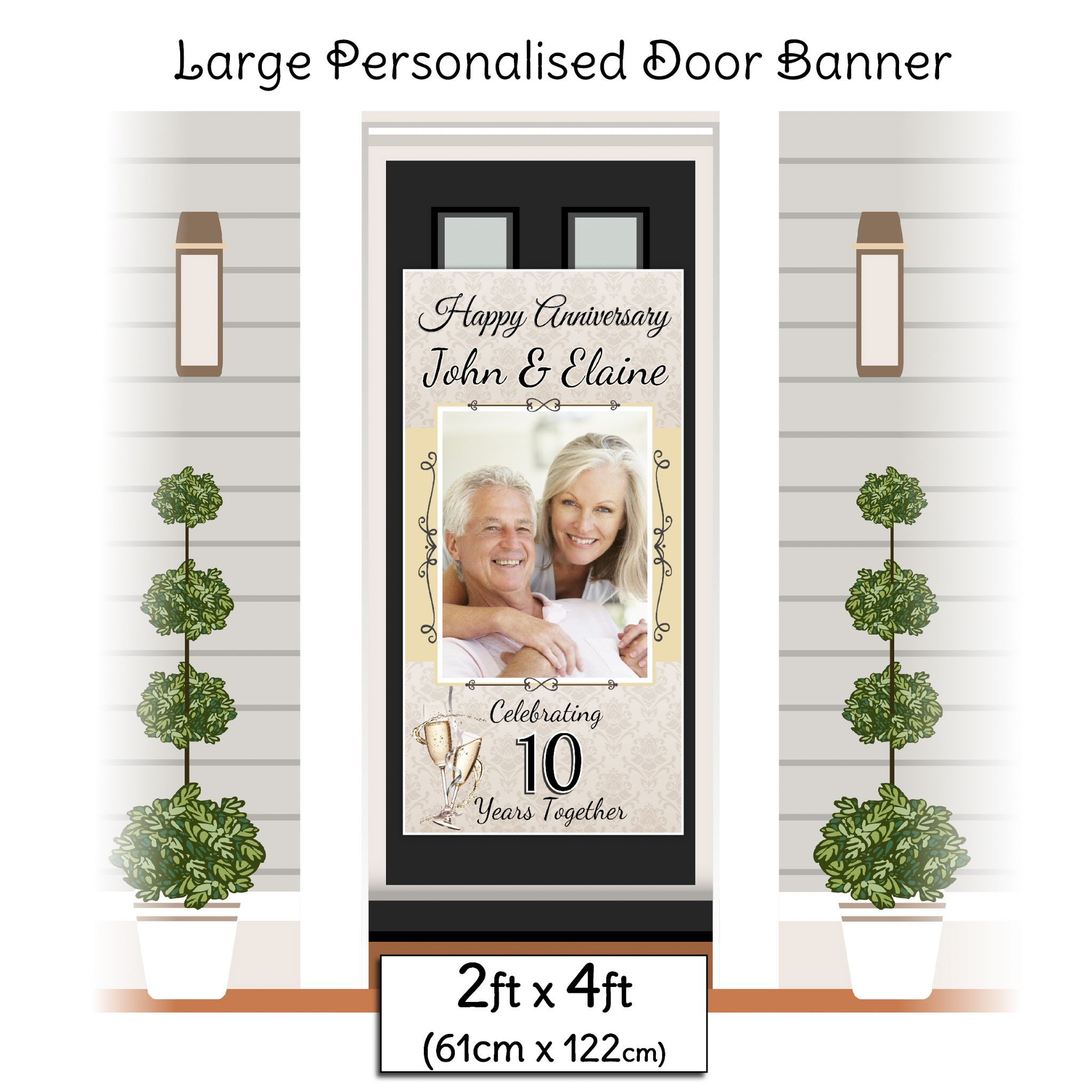 Personalised Wedding Banner Poster with your photo /& text