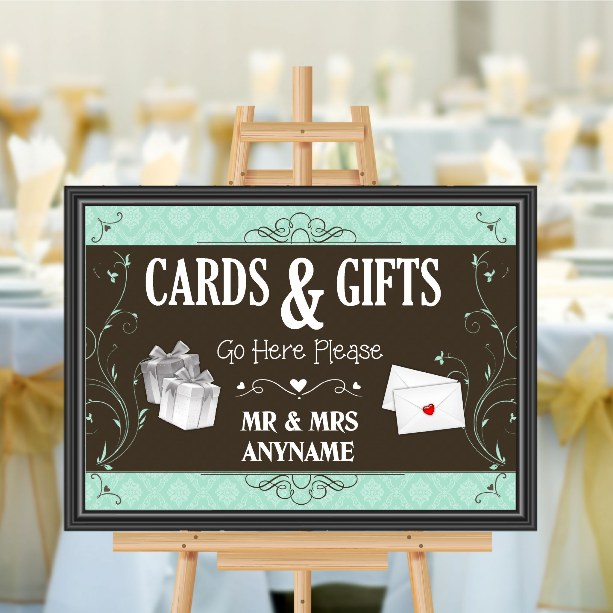 Personalised Wedding Cards & Gifts Sign Poster Banner Print N180