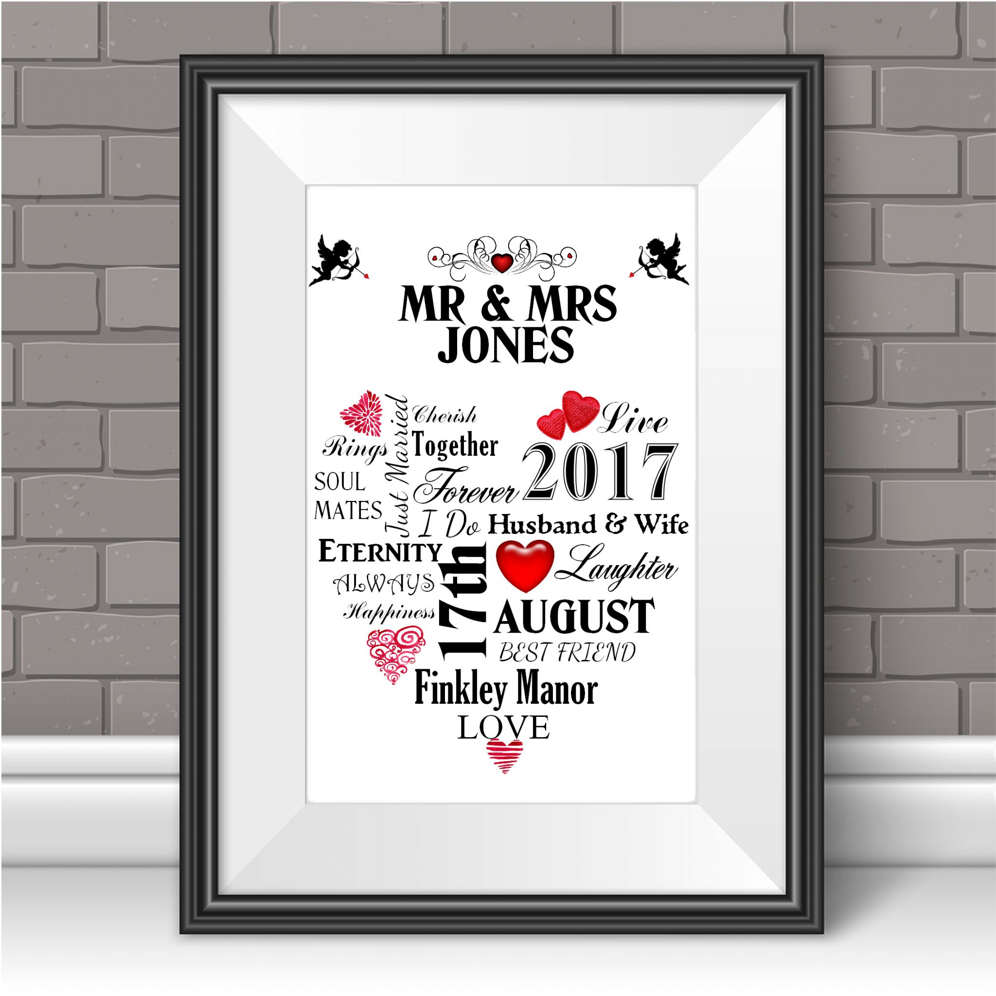 Word for anniversary second life marketplace anniversary for Personalised word art template