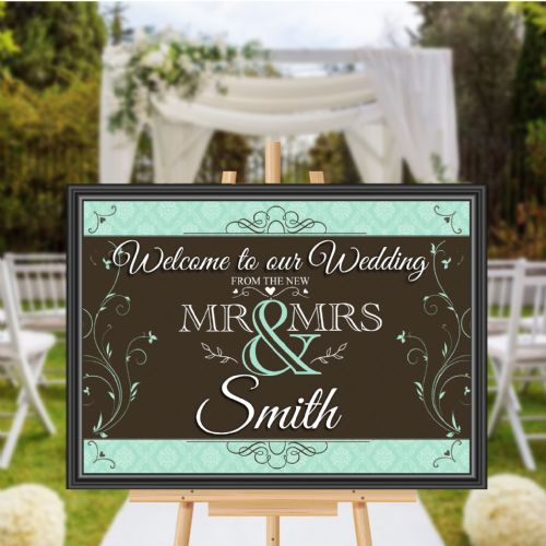 Print Only Personalised Welcome to our Wedding Sign Banner Poster Print N174